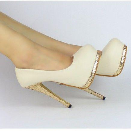 New Sexy Women Bling Platform Apricot Black Club High Heels Pumps Stiletto Shoes   eBay