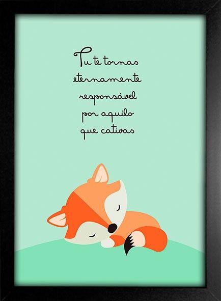 Poster Pequeno Príncipe - Tu te tornas eternamente responsável por aquilo que cativas - Encadreé Posters