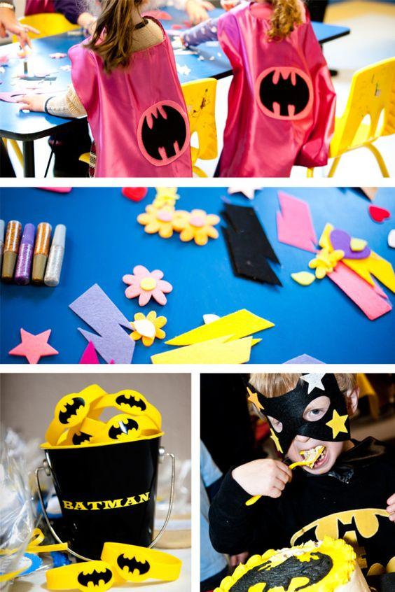 cape and mask decorating idea with kid created superhero name
