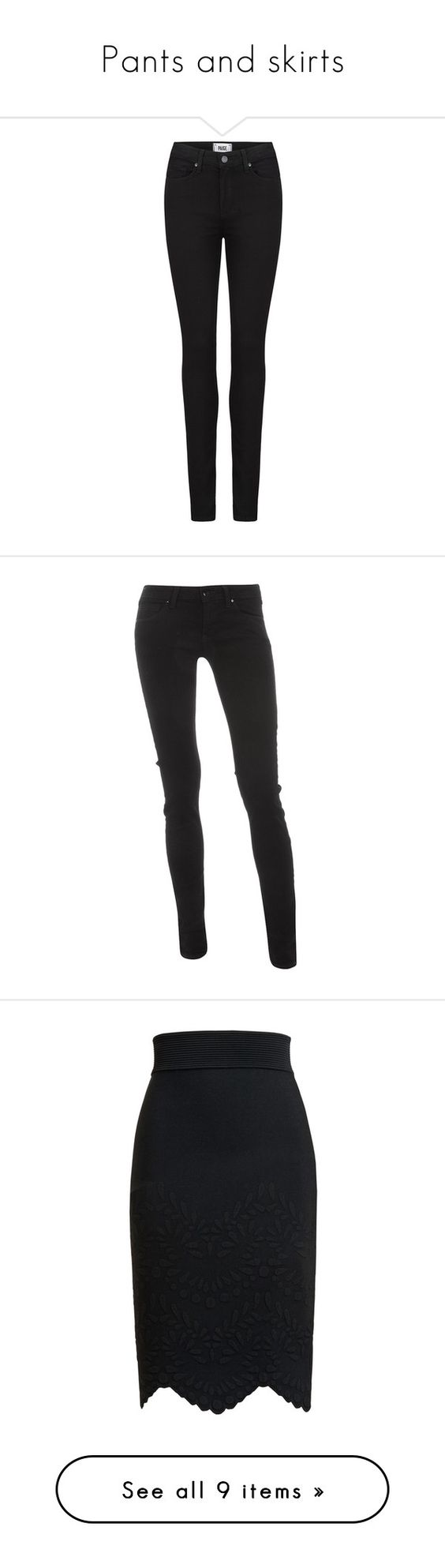 """Pants and skirts"" by princess-serena-of-sweden ❤ liked on Polyvore featuring jeans, pants, bottoms, trousers, calças, black shadow, high-waisted jeans, slim jeans, denim skinny jeans and paige denim skinny jeans"
