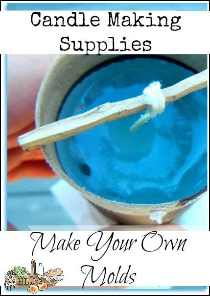 Candle Making Supplies l Make your own candle molds from upcycled materials l Hometead Lady (.com) l A DIY