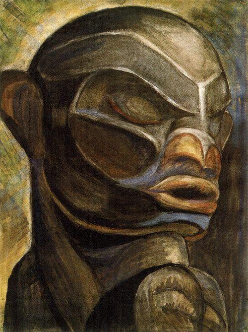 Guyasdoms d Sonoqua  oil on canvas           Emily Carr   Emily     Horst Janssen