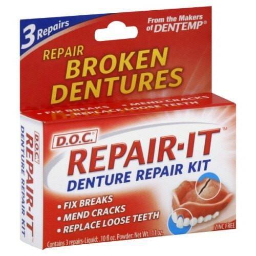 The Doc Repair It Denture Repair Kit Includes Everything Needed
