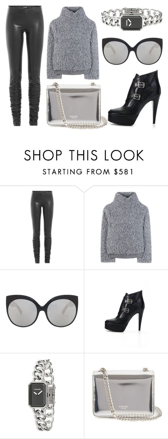 """Untitled #42"" by nataschamaria ❤ liked on Polyvore featuring Jitrois, Vika Gazinskaya, Linda Farrow Luxe, Laurence Dacade, Chanel and Rochas"