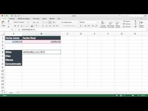 Como Calcular Años Meses Y Días Entre Dos Fechas En Excel Youtube Y Words Words Excel