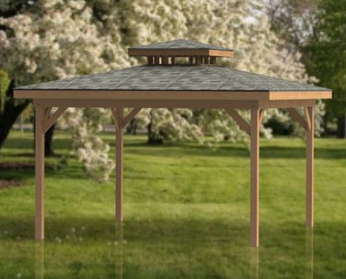 Double Hip Roof Gazebo Plans Perfect For Hot Tubs 16 X 16 Sandmann Specialties Drafting Design Hot Tub Gazebo Gazebo Plans Backyard Pool Landscaping