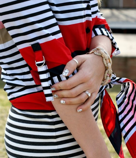 Stripes and nautical colors || Coffee Beans and Bobby Pins