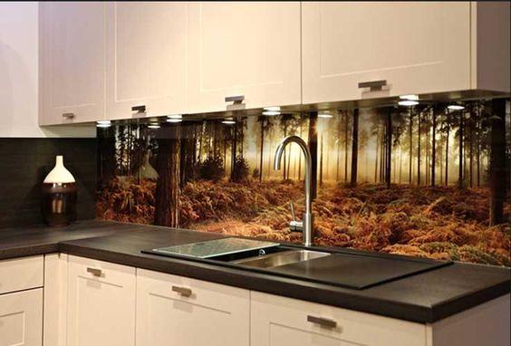 Küchenspiegel Mit Fototapete | varsovia.co