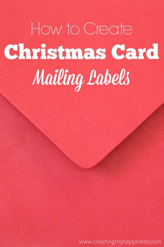 How to create christmas card mailing labels hands for How to print your own shipping labels