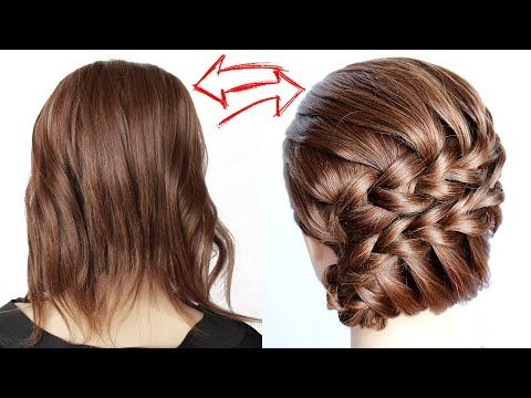Easy Braided Hairstyle For Short Hair Step By Step No Heat By Another Braid Youtube In 2020 Braided Hairstyles Easy Step By Step Hairstyles Summer Hairstyles