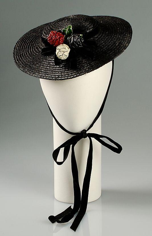 Margie-Pauline Millinery Straw Hat, ca 1937.