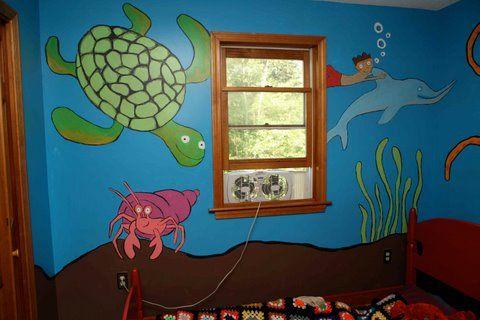 ocean-themed nursery and room