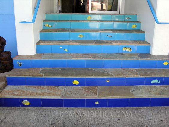 I wasn't sure what to do with our stairs, but this could get fun and colorful!