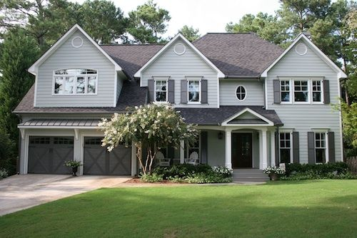 Paint Color Ideas for Colonial Revival Houses | Gambrel roof ...