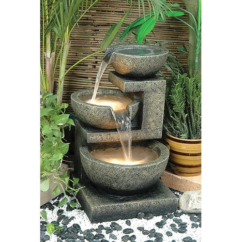 Found it at Wayfair - Rocca Outdoor Resin Tiered Fountain