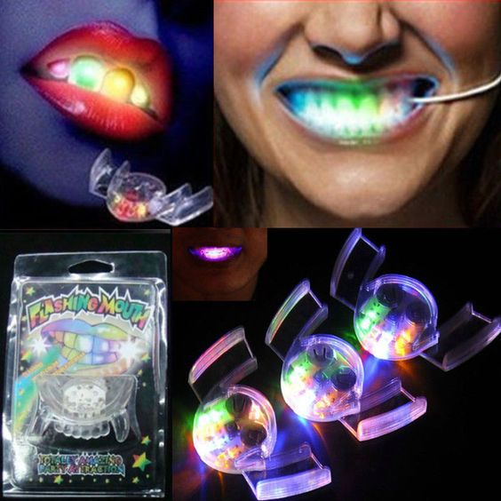 Glow Tooth Light Up Mouthpiece LED Mouth Guard Flashing Teeth Mouth Party Favors #UnbrandedGenenic