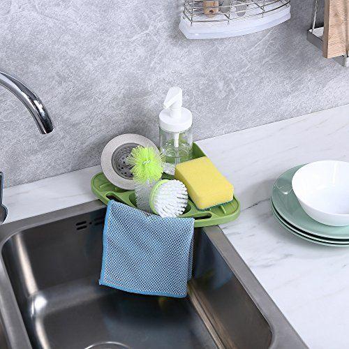 Kitchen Sink Caddy Sponge Holder Scratcher Holder Cleanin Https Www Dp B01ewdf0kk Ref Cm Sw R Pi Dp U X 4nx Kitchen Sink Caddy Sink Caddy Sink