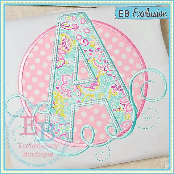 Swirl Alphabet Circle