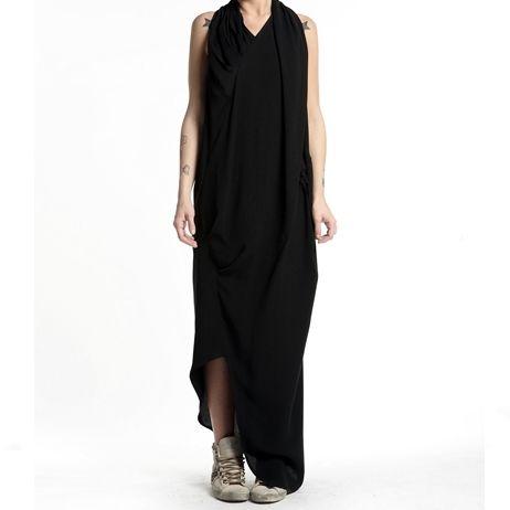 Long drapery dress | by dMajuscule | made in Italy
