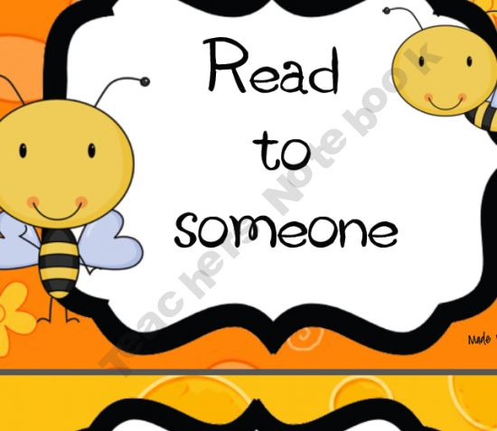 Great for the Bee themed classroom. Daily 5 signs