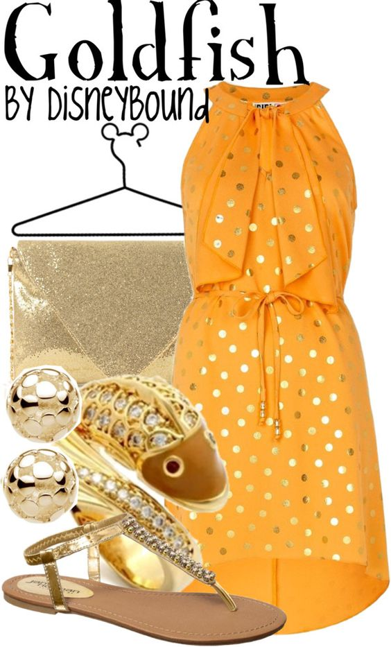 """Goldfish"" by lalakay ❤ liked on Polyvore"