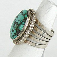 Authentic Navajo Sterling Silver and Turquoise ring