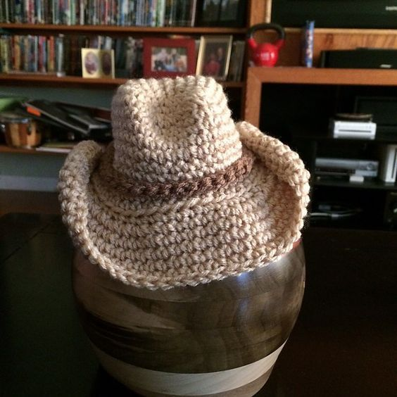 Crochet Cowboy Hat Pattern For Toddler : Baby Cowboy Hat - Free Crochet Pattern https://docs.google ...