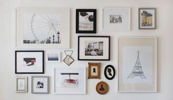 30 id es pour r aliser un mur de cadres design blog designs and places. Black Bedroom Furniture Sets. Home Design Ideas