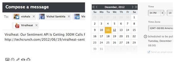Schedule a message in Viralheat