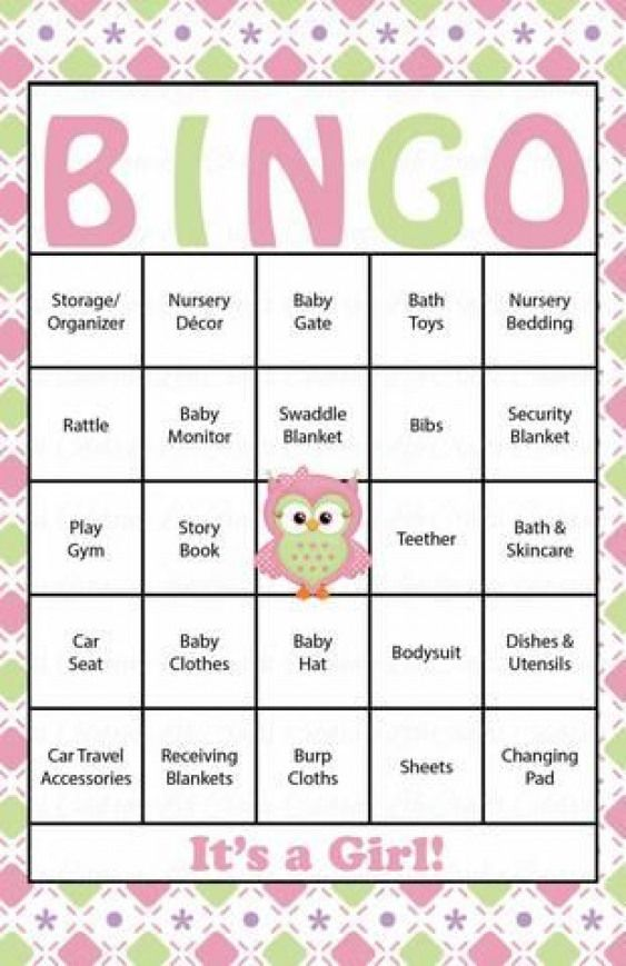 Owl Baby Bingo Cards Printable Download Prefilled Baby