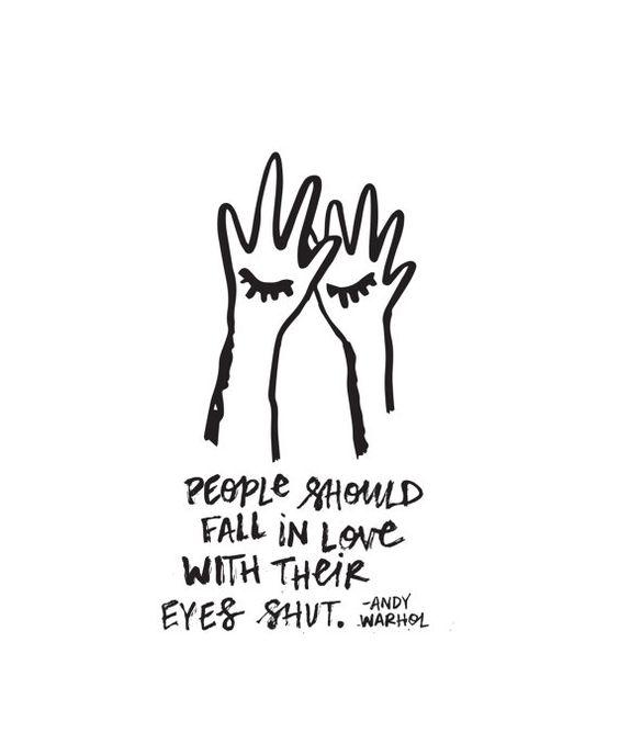 Eyes shut, heart open. // Andy Warhol // allisonsabrie