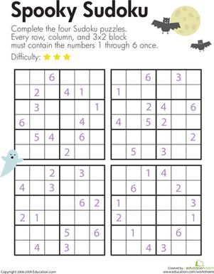 Challenging Sudoku Puzzles - Free Printable Worksheets