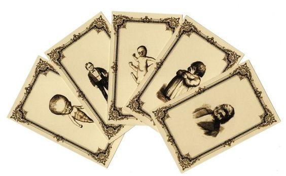(repin-- WANT) victorian medical curiosity trading card set