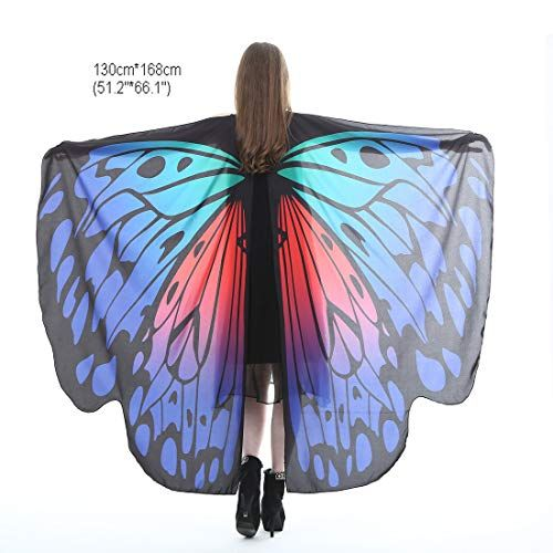 Party Fabric Butterfly Wings Shawl Fairy Ladies Nymph Pixie Costume Accessory