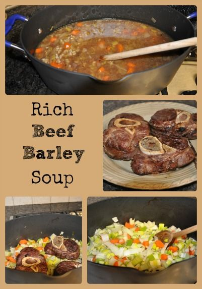 Beef Barley Soup Barley Soup And Oxtail On Pinterest