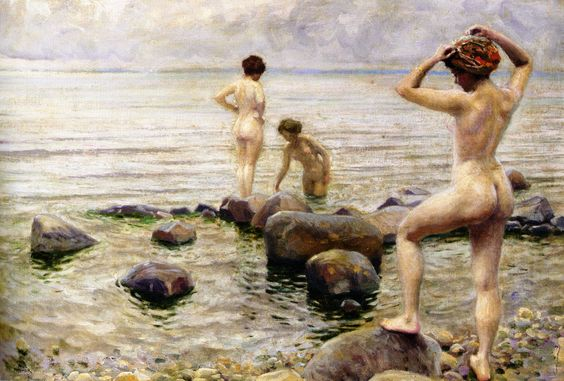 Paul Fischer Bedende Kvinder (A Morning Dip) - Nude swimming - Wikipedia, the free encyclopedia:
