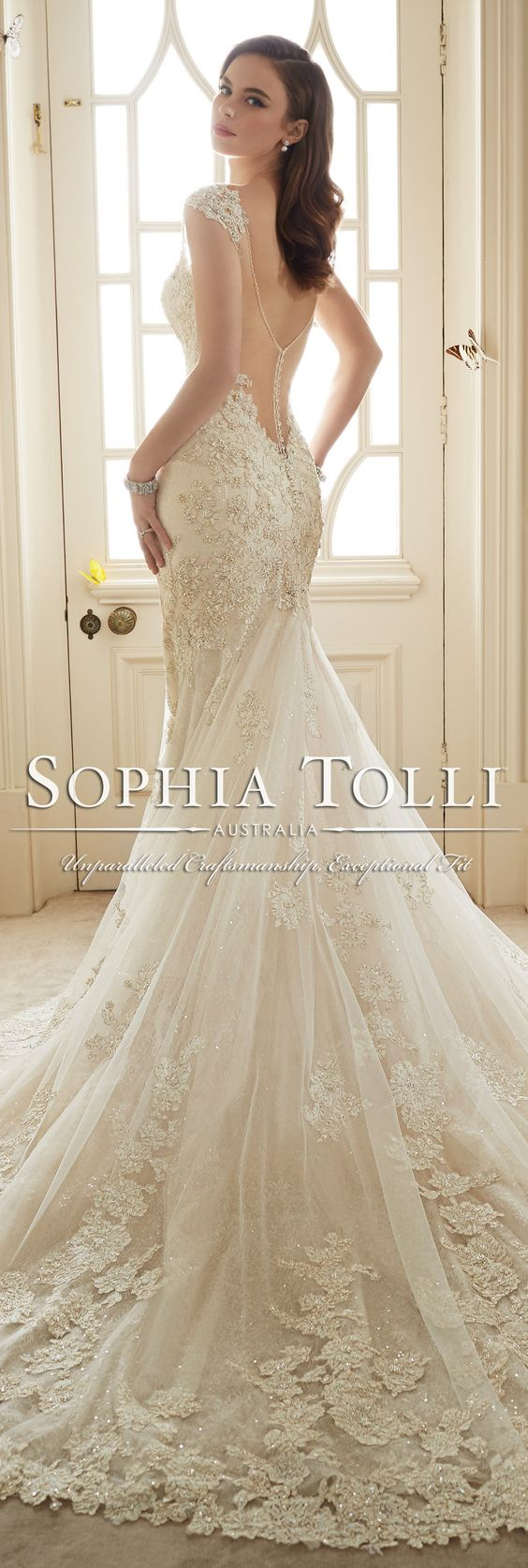 The Sophia Tolli Spring 2016 Wedding Dress Collection - Style No. Y11651 - Sultana #laceweddingdress:
