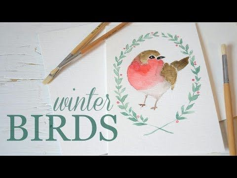 How To Paint A Bird In Watercolor Watercolor Painting For