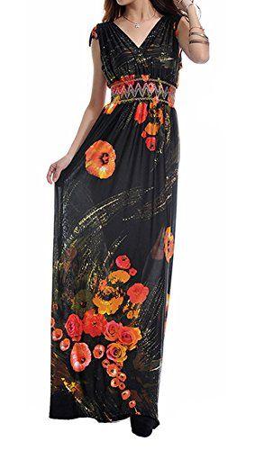 Zuku Life Women's V-Neck Versatile Long Floral Print Maxi Dress COLOR2 TAG M Zuku Life http://www.amazon.com/dp/B00UN3982U/ref=cm_sw_r_pi_dp_dgYBvb16BPXPT