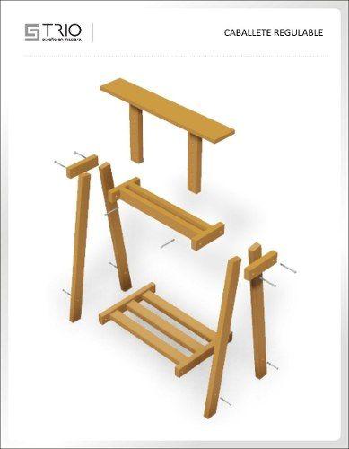 Caballete de madera regulable ideas para muebles pinterest - Caballetes de madera ...