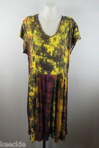 Size XL 16 Ladies Dress Casual TIE DYE Gypsy Hippie Boho Beach Stretch Design | eBay