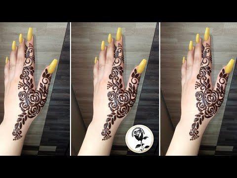 back hand finger mehndi design