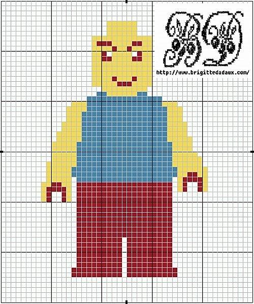 Lego man hama perler beads pattern