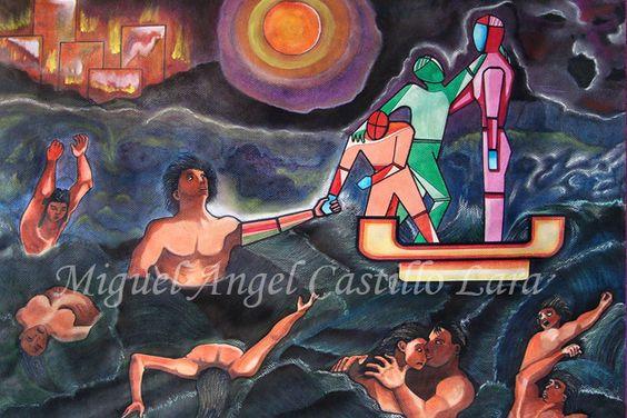 Obra: NAVE DE LOS DIOSES  Técnica: Mixta  Medidas: 80.5 x 62.5 cm  Año: 2008