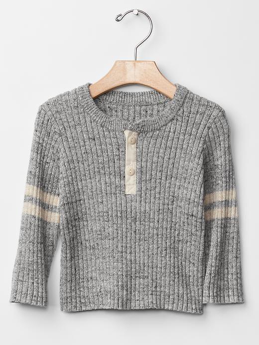 Ribbed varsity sweater Product Image