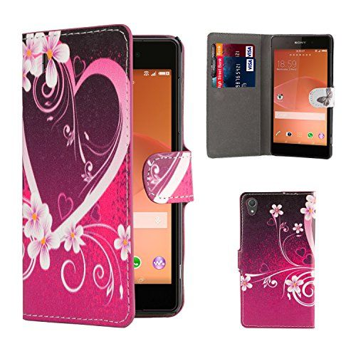 32nd® Design Book Wallet Pu Leather Case Cover For Sony Xperia M4 Aqua Mobile Phone - Love Heart http://www.smartphonebug.com/accessories/some-of-the-best-26-sony-xperia-m4-aqua-cases-and-covers/
