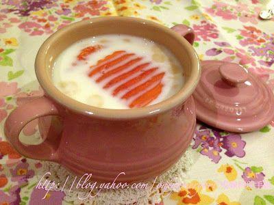 鬼嫁料理手帳: 養顏杏汁木瓜燉鮮奶 – LC 29 x Pink Soup Bowl(附食譜)