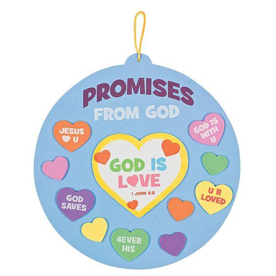 Promises from god sign craft kit orientaltrading com day3 god