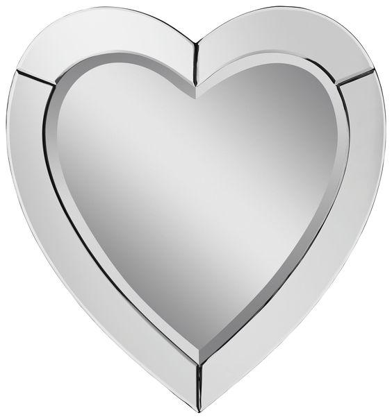 Hübscher Spiegel in Herz-Form von CARRYHOME  Machen Sie Ihre Räume zum Blickfang mit dem romantischen Spiegel!