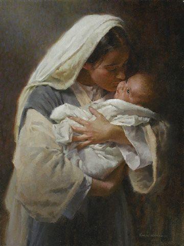 Images pieuses ( La Vierge et l'enfant)                              …
